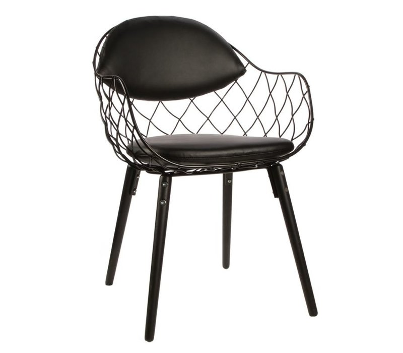 Pina chair stoel stof of leder