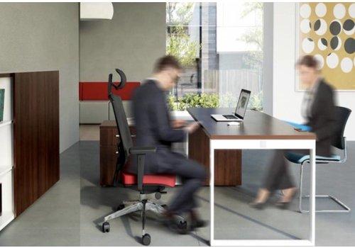Mdd Yan Z bureau avec meuble bas