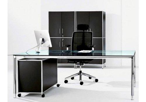 Bosse S-Line bureau van 180 en 200cm in glas