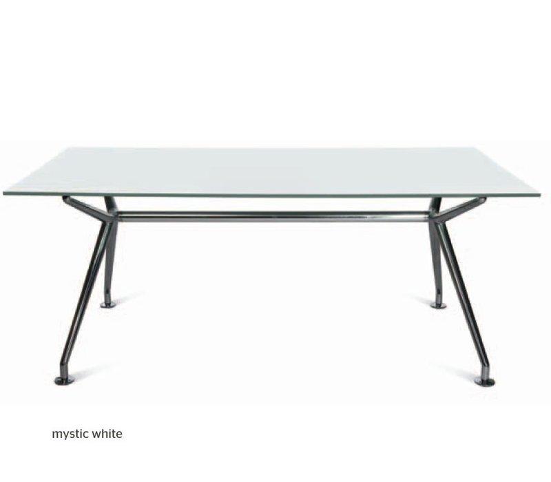 W-table in Mystic white glas