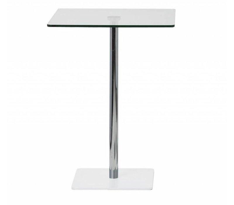 Flow table de bar en verre