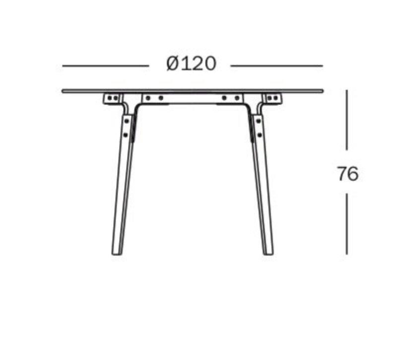 Steelwood table - ronde tafel