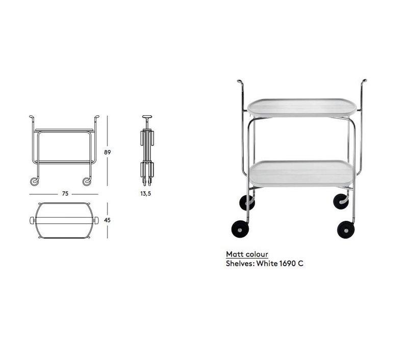 Transit trolley  serveerwagen, opklapbaar