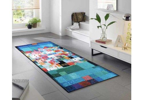Kleentex Colourful houses voetmat
