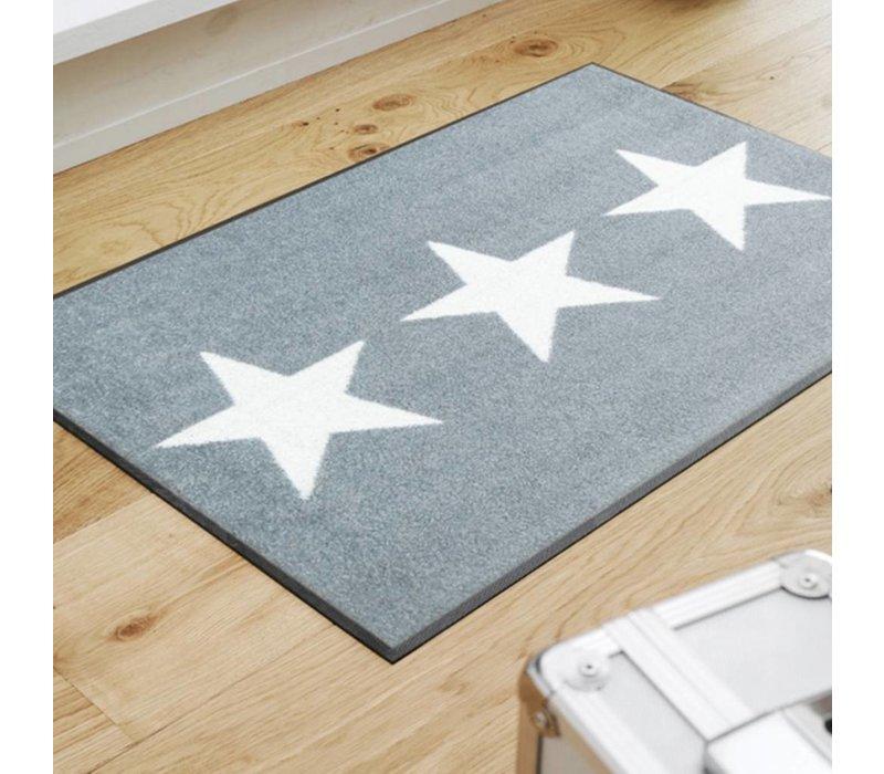 Stars grey voetmat