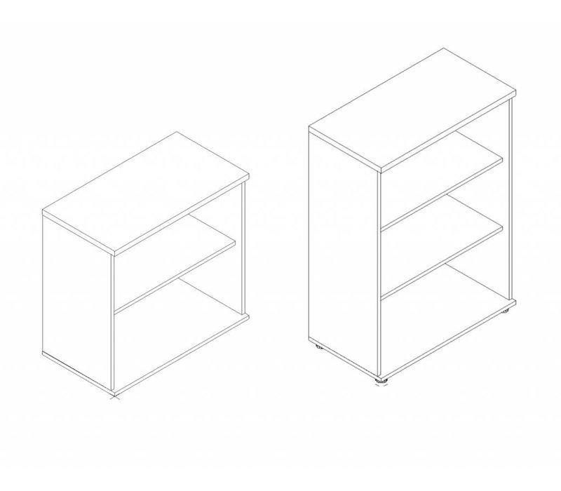 Basic Open kast laag 74 - 77 - 113cm