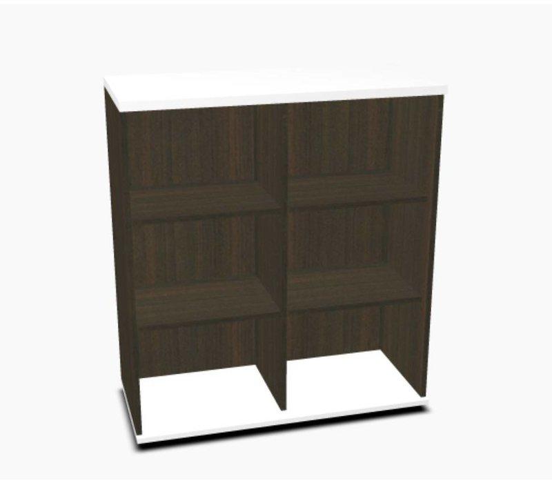 Basic Open kast dubbel 113h cm