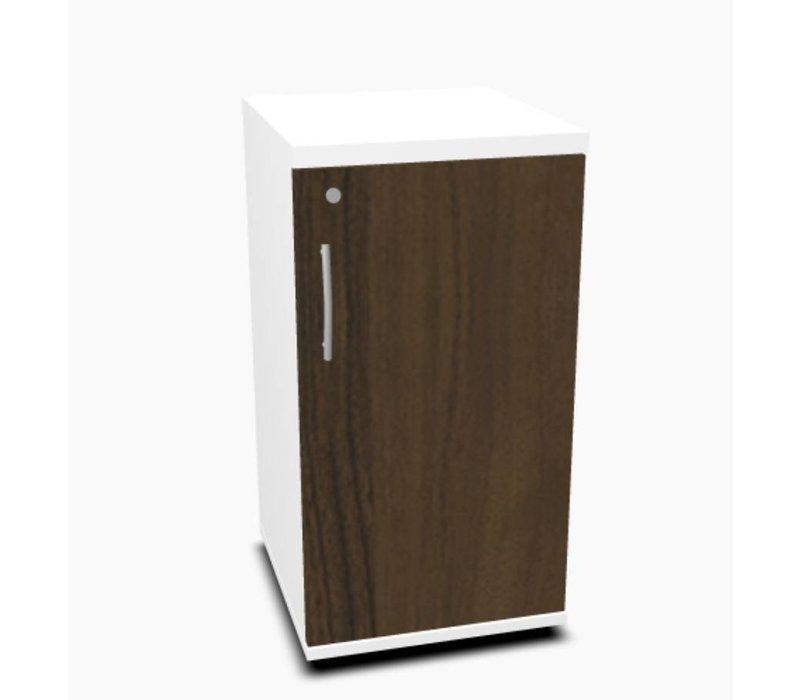 Basic archiefkast smal met deur (77cm) in verschillende kleuren - Melamine(hout)