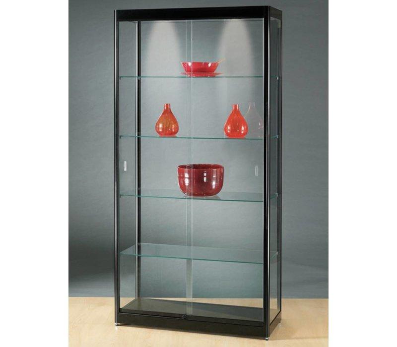 Glazen Wand Vitrinekast.Basic Glazen Vitrine 200h X 100b Cm Brand New Office