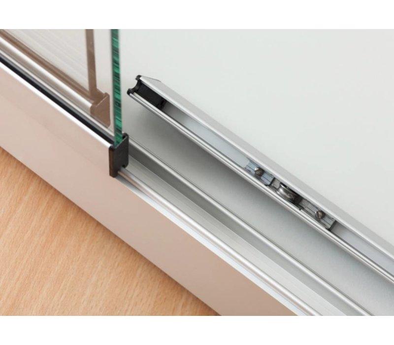 Basic vitrine en verre 200h x 100l cm