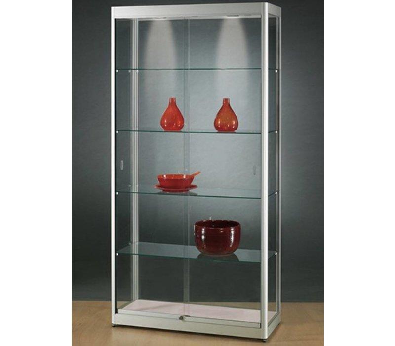 Basic glazen vitrine  200h x 100b cm