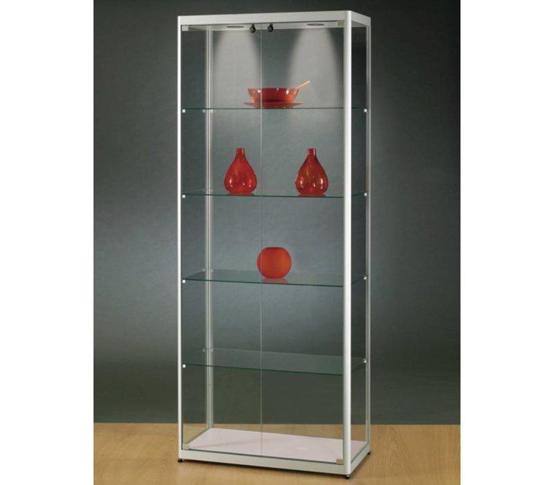 Basic glazen vitrine  200h x 80b cm