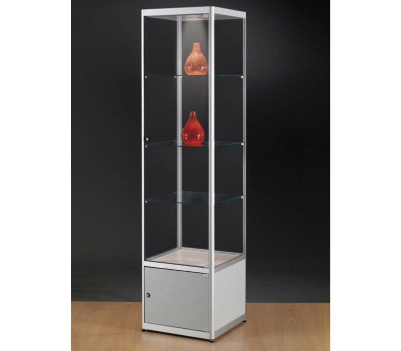 Basic vitrine en verre avec armoire