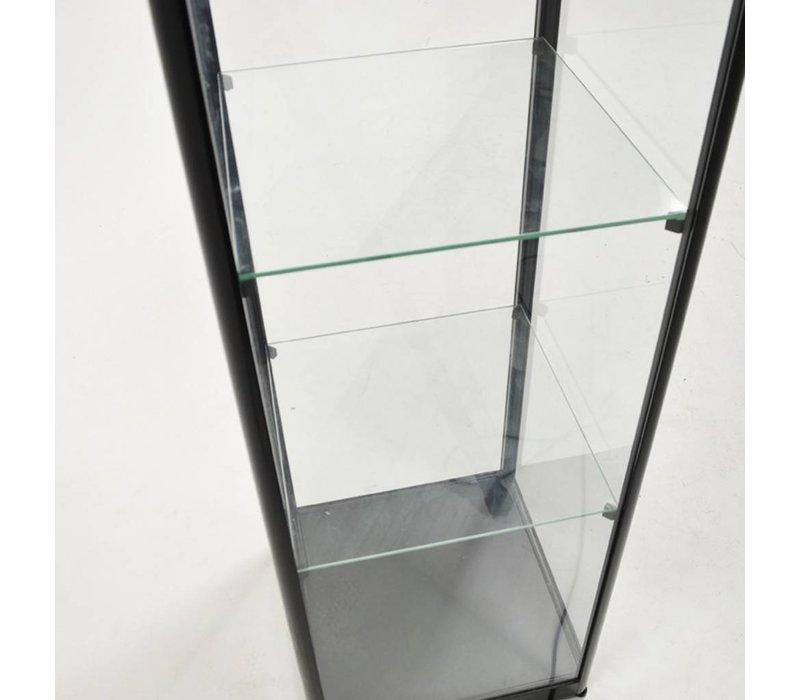 Basic glazen vitrine  200h x 50b cm