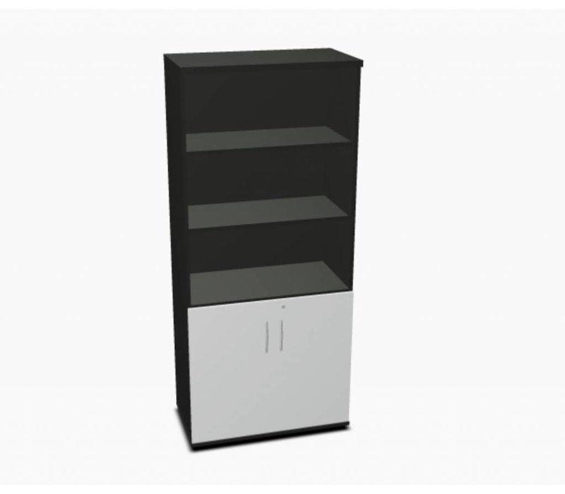 Basic archiefkast met deuren en open vak