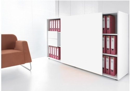 Mdd Zig Zag armoire avec porte coulissante