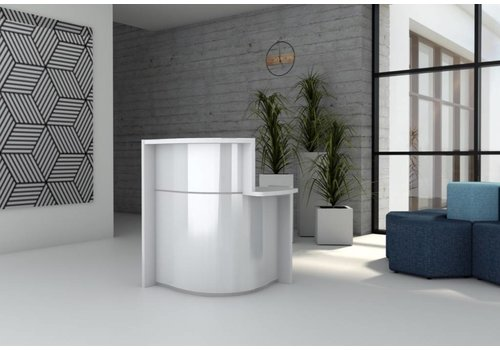 Mdd Wave standfree ontvangstbalie in wit