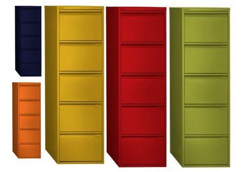 Bisley Armoire à rangement suspendu - 5 tiroirs -Color