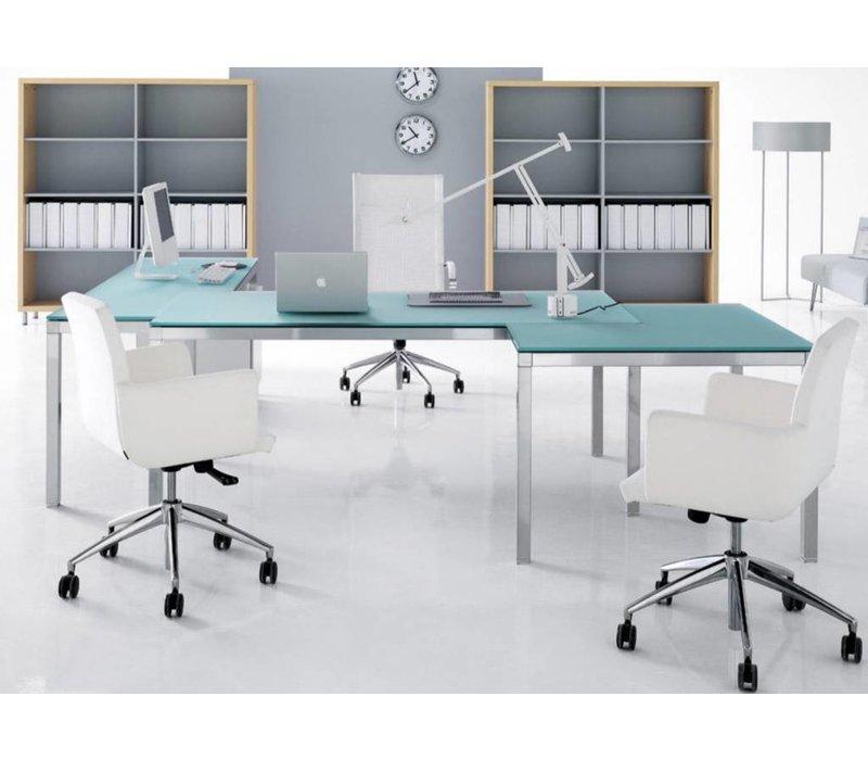 Link glazen bureau