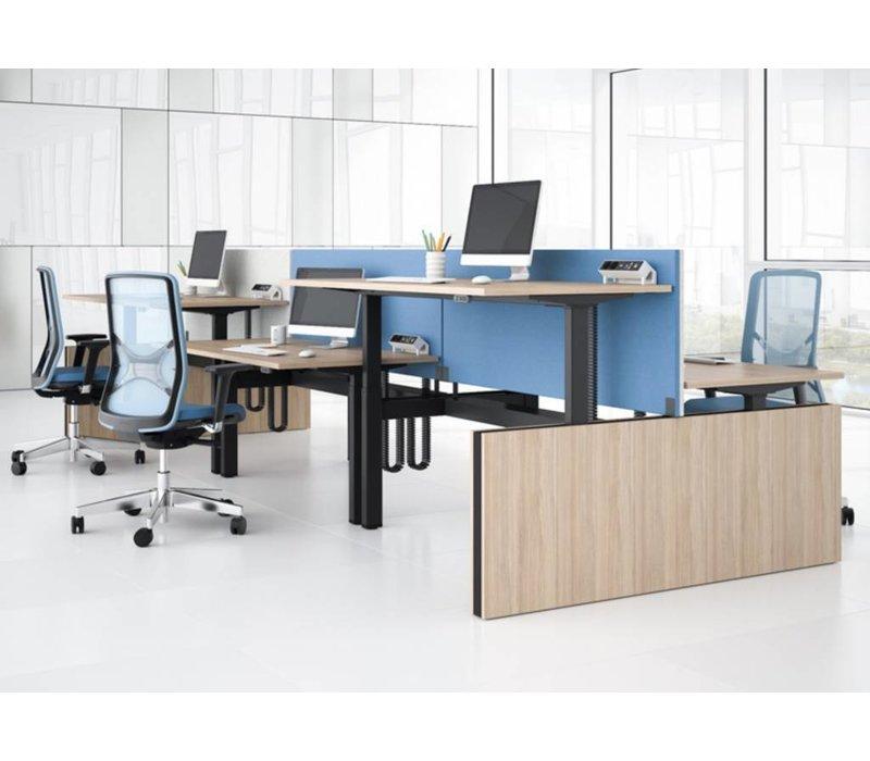 Motion bureaucombinatie zit sta bureau elektrisch
