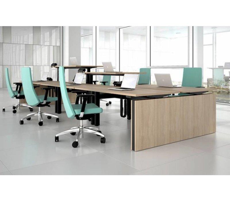 Motion système d'agencement de bureaux assis debout