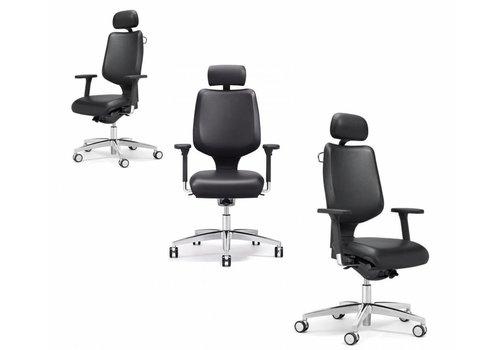 Giroflex 545 fauteuil de bureau en cuir
