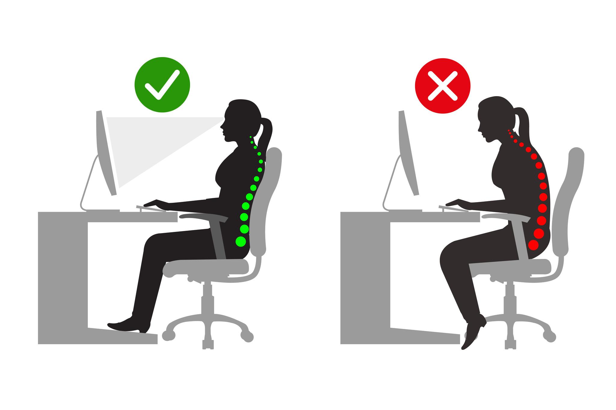 Bij het inrichten van uw bureauruimte moet u erop letten dat u ergonomisch zit. – Brand New Office