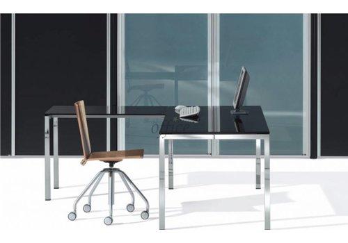 ULTOM Minimum glazen bureau