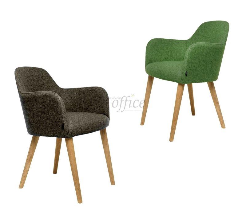 Flaminia gestoffeerde stoel