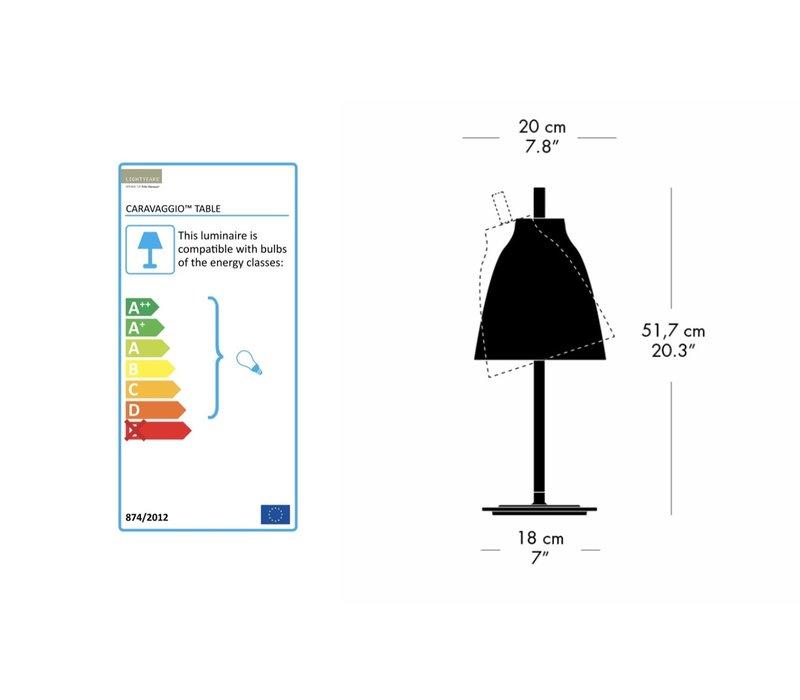 Caravaggio tafellamp mat
