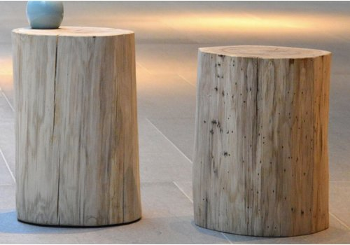 Jan Kurtz Block tabouret / table d'appoint rond