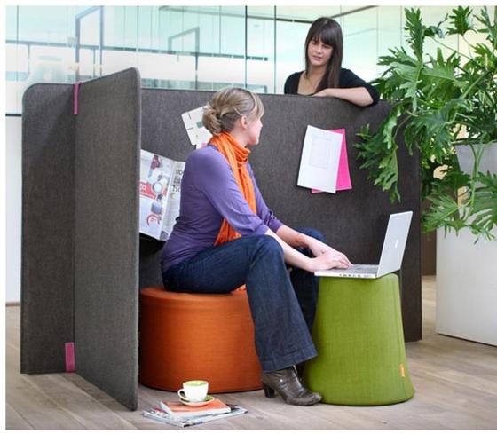 BuzziSpace-scheidingswand voor een goede akoestiek en privacy. – Brand New Office