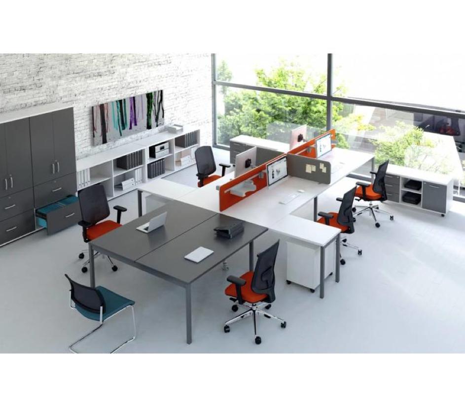 De Mdd Ogi Y bureaubenches, verkrijgbaar bij Brand New Office.