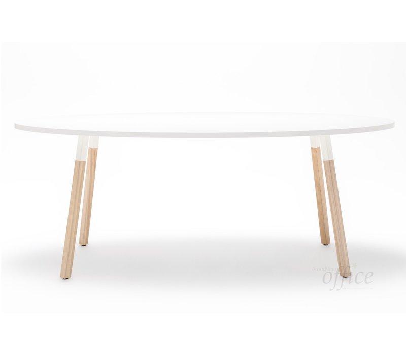 Ogi Wood ovale tafel