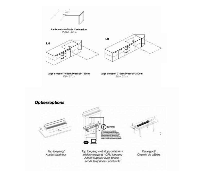 Loopy directiebureau fineerhout