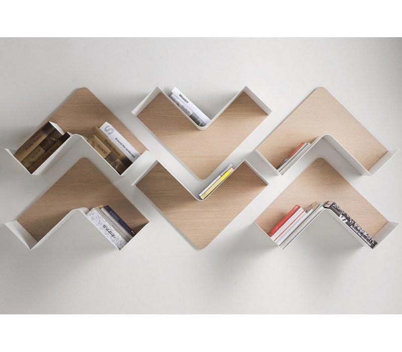 Fishbone moduleerbaar boekenrek