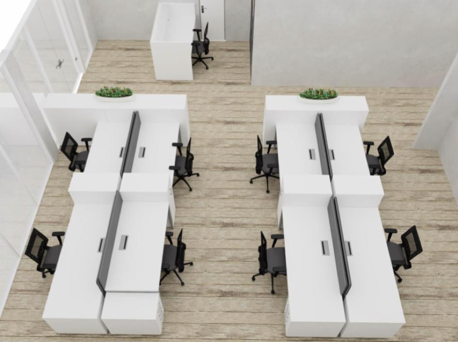 Un dessin 3D d'un bureau - Brand New Office