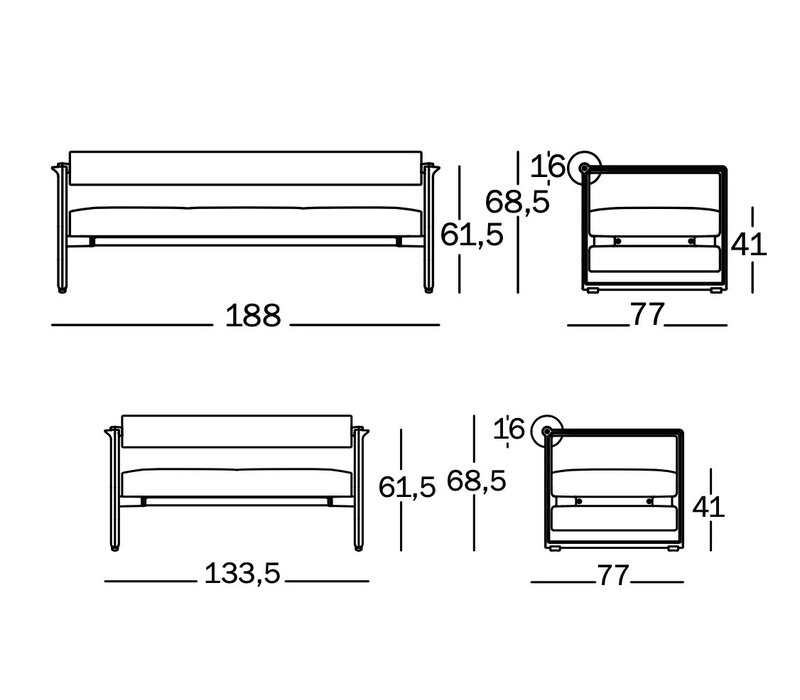 Brut design sofa