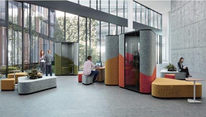 Een flexibele werkplek heeft verschillende zitplaatsen en silent rooms – Brand New Office