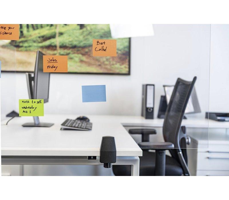 Scheidingsschermen plexiglas met bureauklem