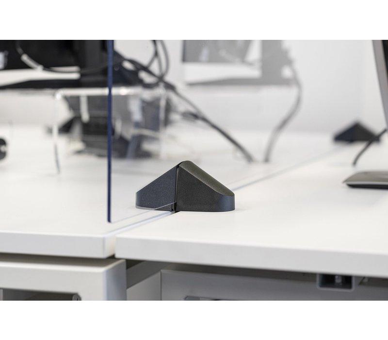 Écrans de séparation en verre plexi avec pince