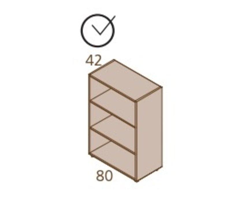 Halfhoge open kasten - 118H cm