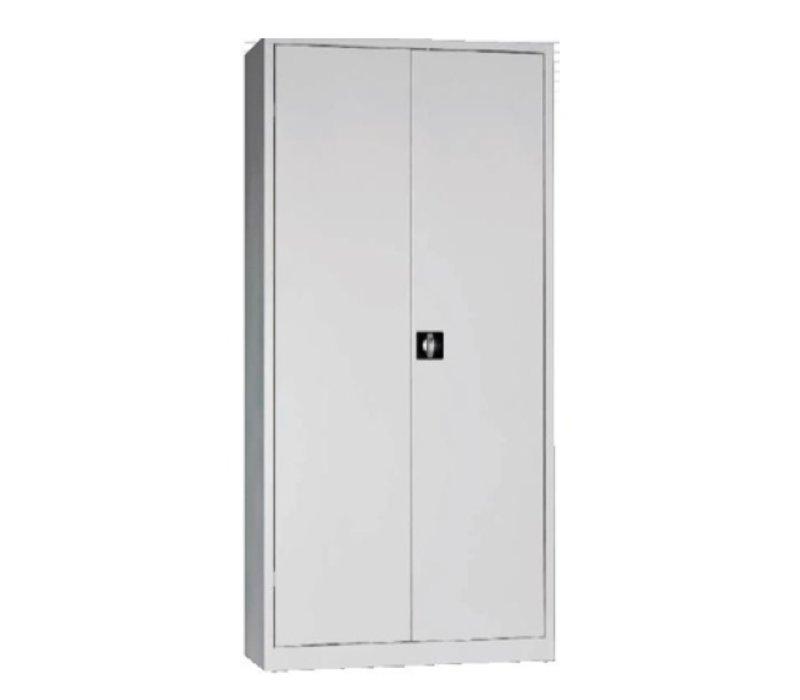 Armoire à portes battantes métallique mixte vestiaire-rangement