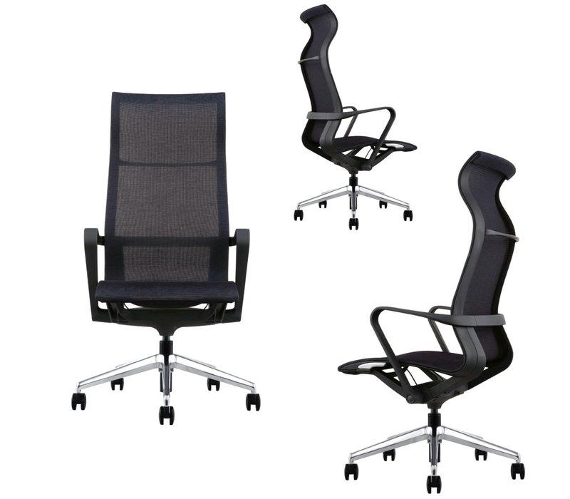Chaise de réunion/bureau haute réglable Ergo NC