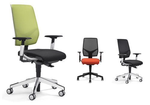Giroflex 68 bureaustoel netrug met armleuning