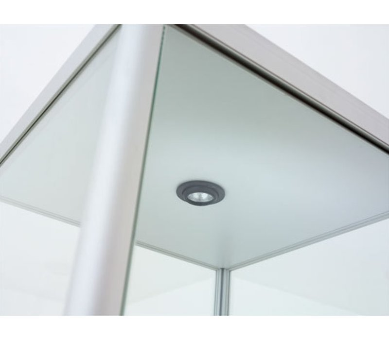 Pictor glazen vitrine B40 met afsluitbare onderkast