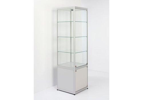 Van Esch Pictor glazen vitrine B50 met afsluitbare onderkast