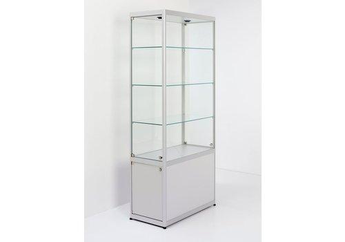 Van Esch Pictor glazen vitrine B80 met afsluitbare onderkast