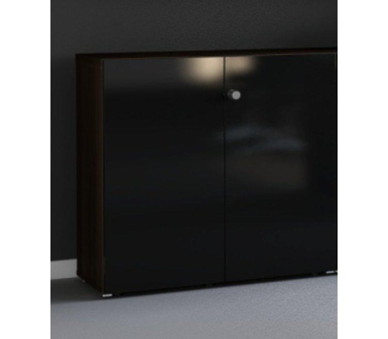 Mito archiefkast laag glanzende deuren(hout)