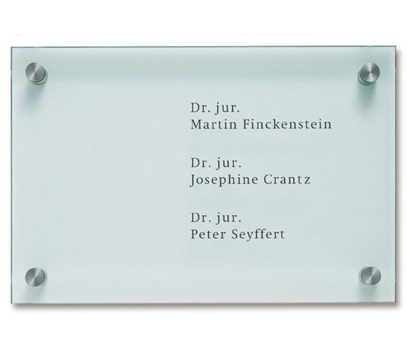 Cristallo bedrijfsbewijzering - 40h x 60b x 4,5d cm